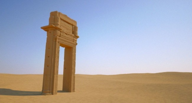 A 3D rendering of an archaeological piece in the Middle East. PHOTO: Dubai Museum of the Future
