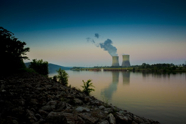 Watts Bar Unit 2 outside Spring City, Tenn. Along with the plant's first unit, Watts Bar will generate approxiamtely 4,300 megawatts of power. PHOTO: TVA