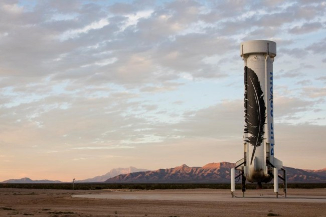 Blue Origin's New Shepard space vehicle successfully flew to space before executing the first-ever landing back at the launch site in West Texas. PHOTO: Blue Origin