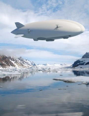 The Hybrid Airship is designed for remote cargo transport, and particularly well-suited for areas such as northern Canada where ground infrastructure is sparse, or island hopping. PHOTO: Lockheed Martin