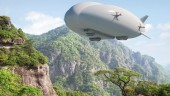 Concept of Lockheed Martin's Hybrid Airship. the company plans to build a 21-tonne first, before scaling the technology up to a stadium-sized 500 tonnes. PHOTO: Lockheed Martin