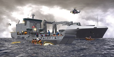 Concept of Davie's Resolve-Class Auxiliary Oiler Replenishment. PHOTO: CNW Group/Davie Shipbuilding