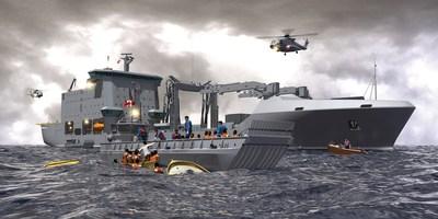 Concept of Davie's Resolve-Class Auxiliary Oiler Replenishment. PHOTO: CNW Group/Davie Shipbuilding