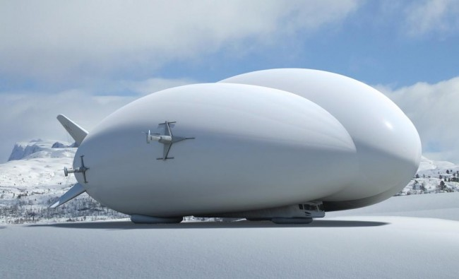The Hybrid Airship has the ability to land on virtually any surface, including snow, sand, dirt and even water, PHOTO: Lockheed Martin