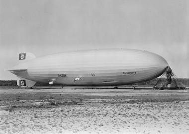 The LZ-129 Hindenburg, the largest airship ever built. PHOTO: U.S. Department of the Navy. Bureau of Aeronautics