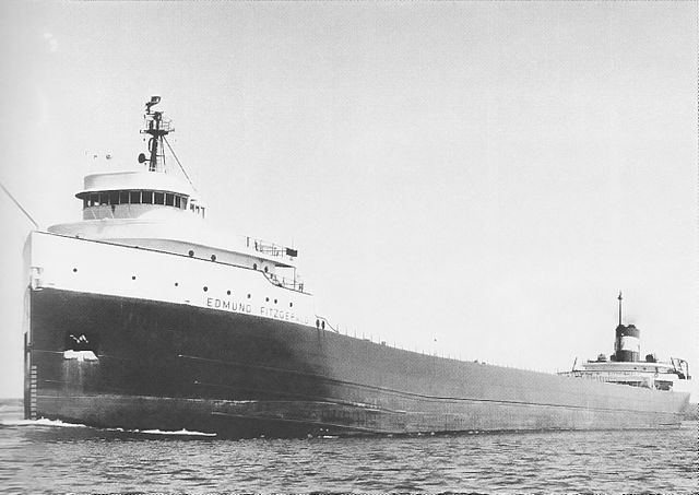 The Edmund Fitzgerald went down with all hands in Lake Superior Nov. 10, 1975. PHOTO: United States Army Corps of Engineers, via Wikimedia Commons