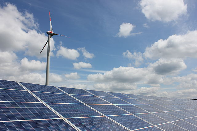 A new International Energy Agency report maps out how renewable energy sources will expand, eventually taking the top spot in the generating hierarchy. PHOTO: Jan.Boedeker, via Wikimedia Commons