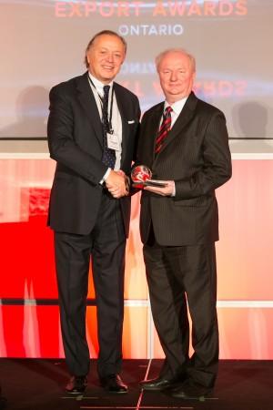 Cyclone accepting award