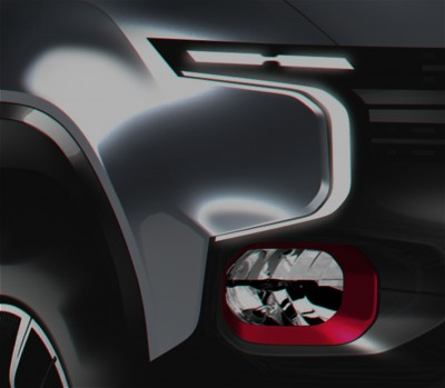 GM design sketch of an altered Chevrolet Colorado. PHOTO: GM