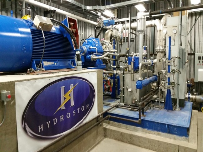 Hydro's underwater compressed air storage equipment at its facility on Toronto Island. PHOTO: Toronto Hydro
