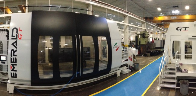The shop floor at Magna International Inc.'s Tycos Tool & Die. One of the company's new contour mills pictured. PHOTO: Magna