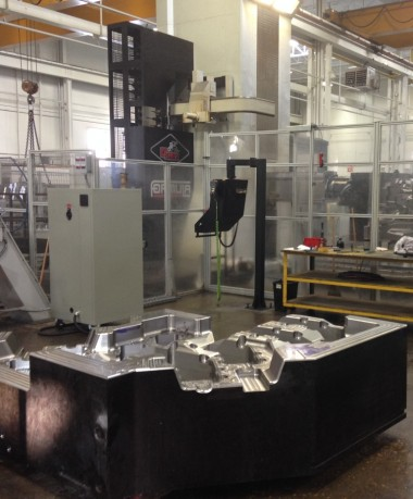 Some of Tycos' largest molds include 100,000-pound hydroform dies and injection fascia molds. PHOTO: Magna