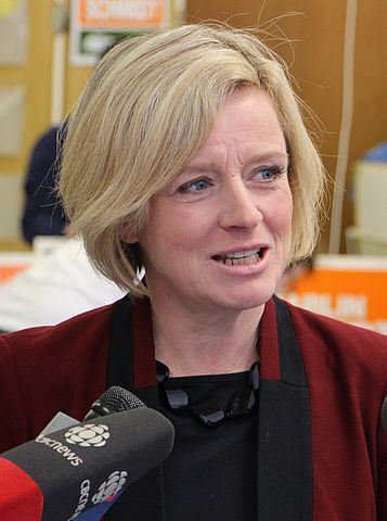 "Alberta Premier, Rachel Notley, says ""ignoring"" climate change no way to develop energy industry. PHOTO:  Dave Cournoyer, via Wikimedia Commons"