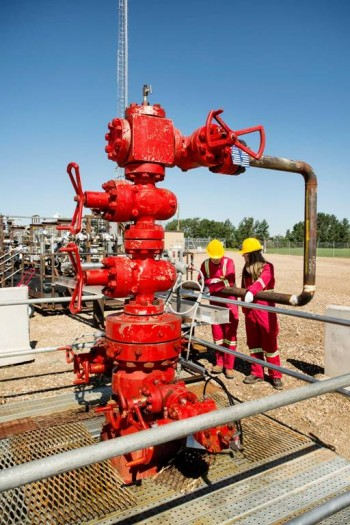 A CO2 injection well and part of the Quest Carbon Capture and Storage Project. PHOTO: Shell