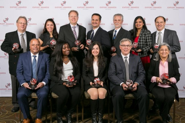 2015 Ontario Export Awards Winners. The diverse group of companies emerged from a field of more than 20 finalists to secure the hard-earned, prestigious awards.
