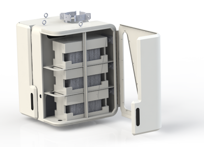 Concept of eCamion and Ryerson's pole-mountable battery. PHOTO: eCamionbattery