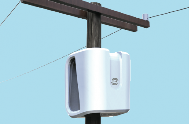 Rendering of eCamion and Ryerson's electricity pole mounted smart energy storage solution. The first unit will be mounted on a Toronto Hydro pole later this year. PHOTO: eCamion
