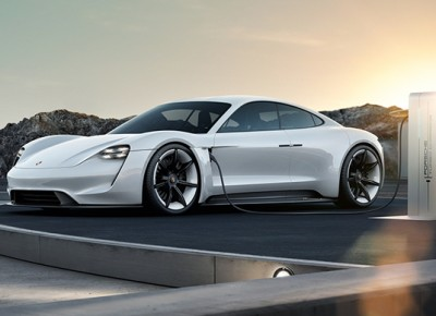 The automaker plans to use an 800-volt charger in the new vehicle, which would allow drivers to spend less time in the garage and more time on the road. PHOTO: Porche