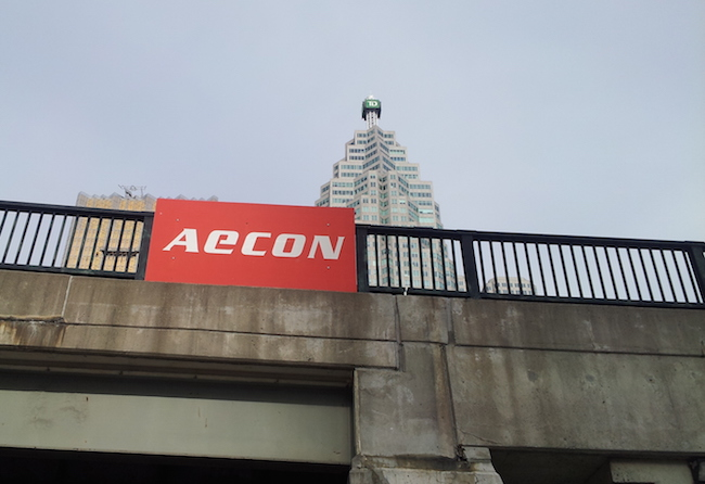 Aecon said the Union Gas contract is valued at approximately $250 million, but did not disclose the details of the agreement with Spectra Energy
