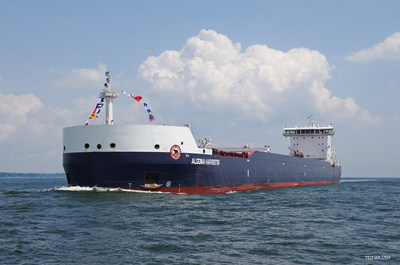 The Algoma Harvester, the company's second Equinox Class vessel. It entered service in 2014. PHOTO: CNW Group/Algoma Central Corporation