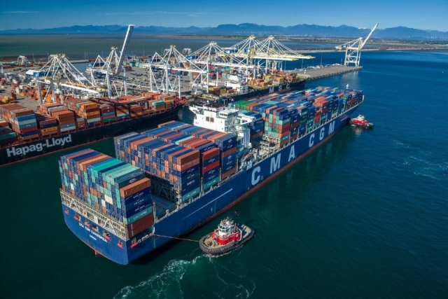GCT Global broke ground on its $280 million Vancouver yard reconfiguration in October of this year. PHOTO: GCT Global Container Terminals Inc.