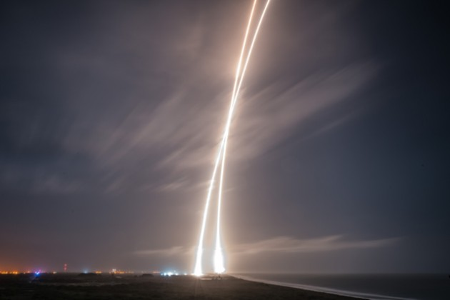 SpaceX's Falcon 9 rocket blasted off from Cape Canaveral Air Force Station, Florida. PHOTO: SpaceX
