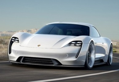 Porche's Missions E concept car. The company said the new vehicle will go 0-100 km/h in less than 3.5 seconds and have a range of more than 500 kilometres. PHOTO: Porsche