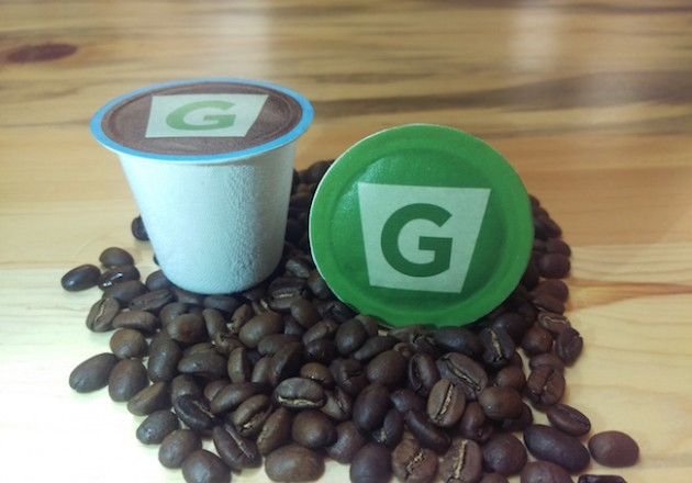 G-Kup's 100 per cent compostable coffee pod. PHOTO G-Kup