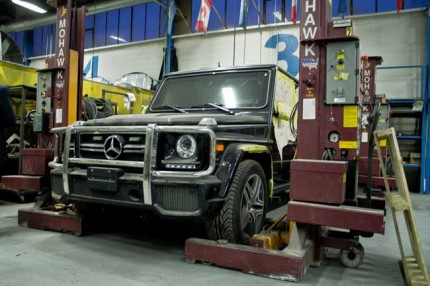 A Mercedes SUV undergoing the Inkas transformation. PHOTO: David Kenndy