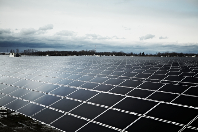 Enbridge's Sarnia Solar Project in the nearby southwestern Ontario city. PHOTO: Enbridge