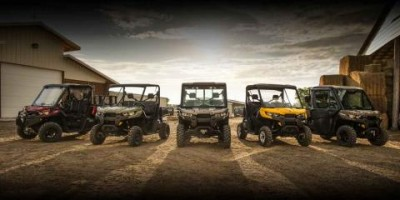 BRP's newly introduced Can-Am Defender family. The company posted a significant gain in its year-round products segment. PHOTO: BRP
