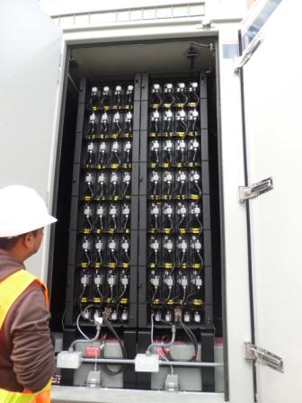 Inside Electrovaya's Battery Energy Storage System during installation its in Toronto's core. PHOTO: Electrovaya