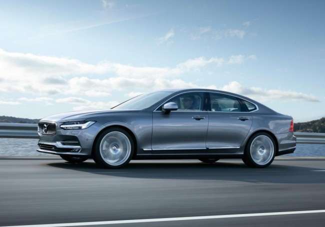 Volvo's new S90. The vehicle comes equipped with a T8 Twin Engine plug-in hybrid powertrain, as well as Pilot Assist, semi-autonomous feature. PHOTO: Volvo