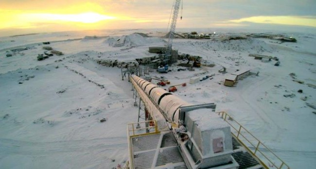 The Gahcho Kué complex, the world's largest new mine currently under construction. PHOTO:  Mountain Province Diamonds