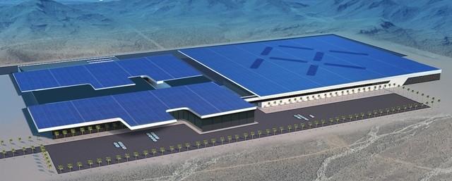 Concept of the enigmatic automaker's billion-dollar facility. PHOTO: Faraday Future