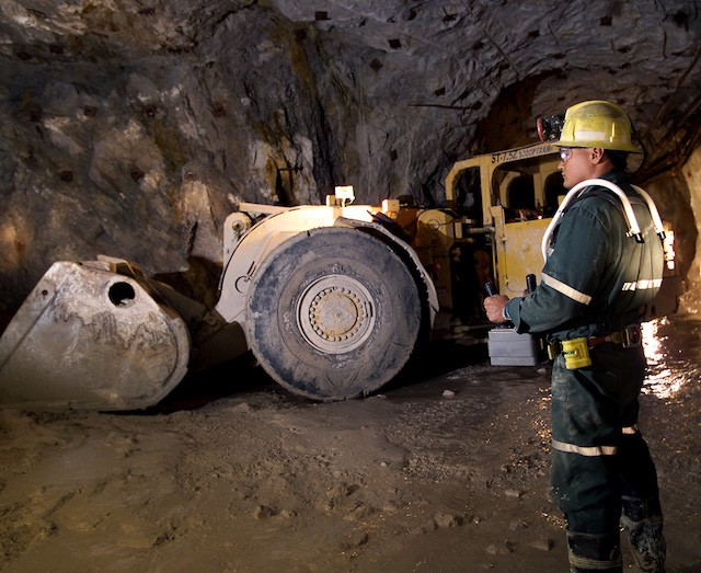 A remote control scoop tram at the Rabbit Lake mine. The company has restricted operations at the mine as a precaution, removing 40 non-essential personnel. PHOTO: Cameco