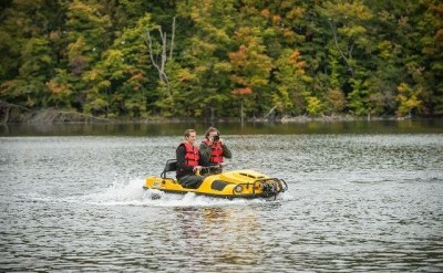 Argo's lineup of fully-amphibious all-terrain vehicles are designed to get off-roaders places no other vehicle can. PHOTO: Argo