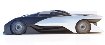 The potential Tesla competitor said it will have vehicles in production in about two years, though it did not say whether it would pursue the ambitious, concept design. PHOTO: Faraday Future