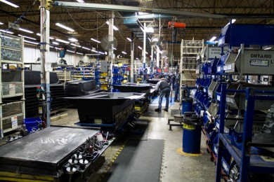 The Argo assembly line in New Hamburg, Ont. PHOTO: David Kennedy