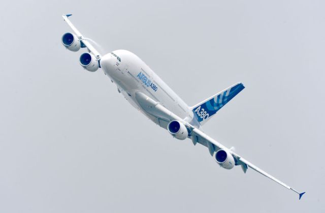 Airbus signed a 118-place, US$25 billion deal with Iran, which included the sale of 12 of its huge A380s. PHOTO: Airbus