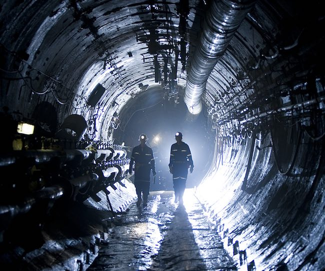 Tunnels at Cameco's Cigar Lake operation. The company plans to produce 16 million tonnes of uranium at the mine throughout 2016. PHOTO: Cameco