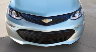 The front end of the new EV. Both the front and rear exterior sport LED lights. PHOTO: General Motors