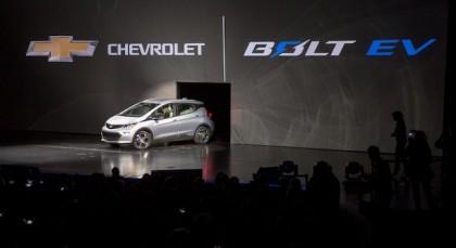 General Motors launched its new Chevrolet Bolt EV at the Consumer Electronics Show in Las Vegas Jan. 6. PHOTO: General Motors