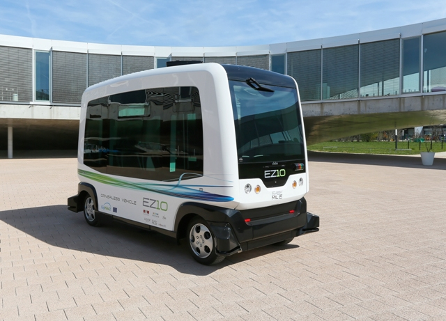 The fully-electric six-seat WePod has a range of 100 kilometres. PHOTO: WePod