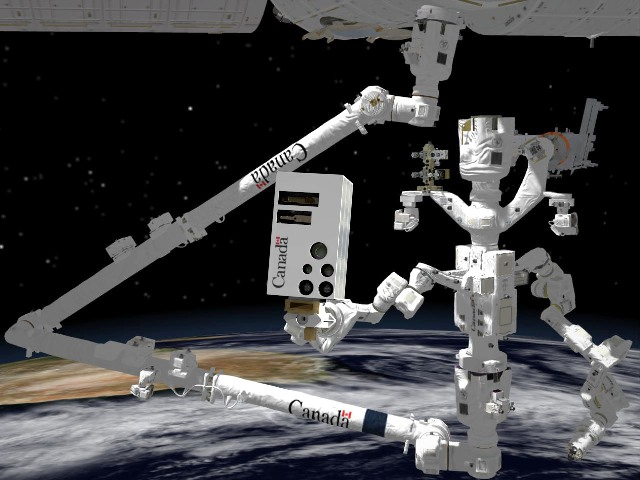 The new vision system will be mounted onto Dextre, the system that inspects the externoal components of the ISS. PHOTO: Government of Canada