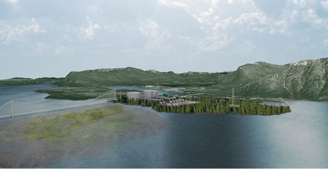 Rendering of the proposed facility on Lelu Island, B.C. PHOTO: Pacific Northwest LNG
