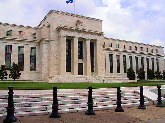 The U.S. Federal Reserve in Washingon. The Central bank left its key interest rate unchanged Jan. 27 after hiking it six weeks ago. PHOTO: Dan Smith, via Wikimedia Commons
