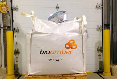 Bio-succinic acid produced using sugar at Bio Amber's Sarnia plant ready for shipment. PHOTO: BioAmber