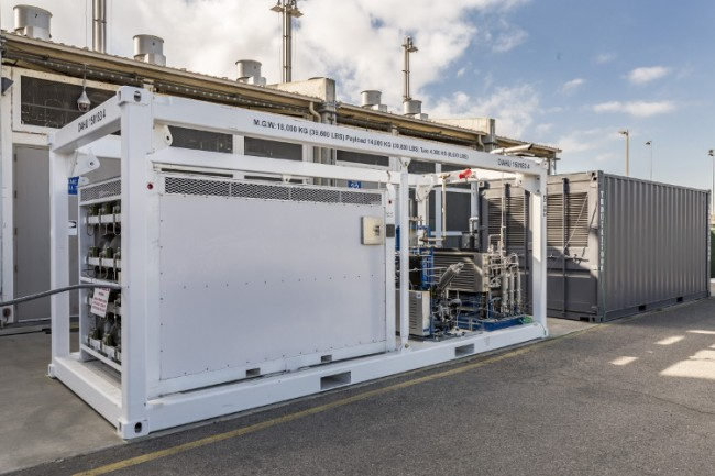 Boeing's Reversible Solid Oxide Fuel Cell system. The company shipped the unit to PHOTO: Boeing