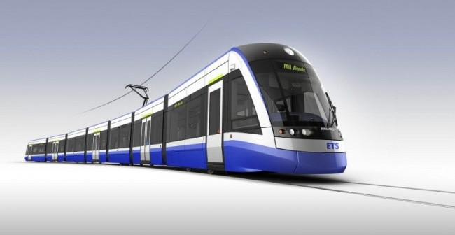 Canadian-built FLEXITY light rail vehicles will enter service on the new Valley Line Edmonton. PHOTO: Bombardier